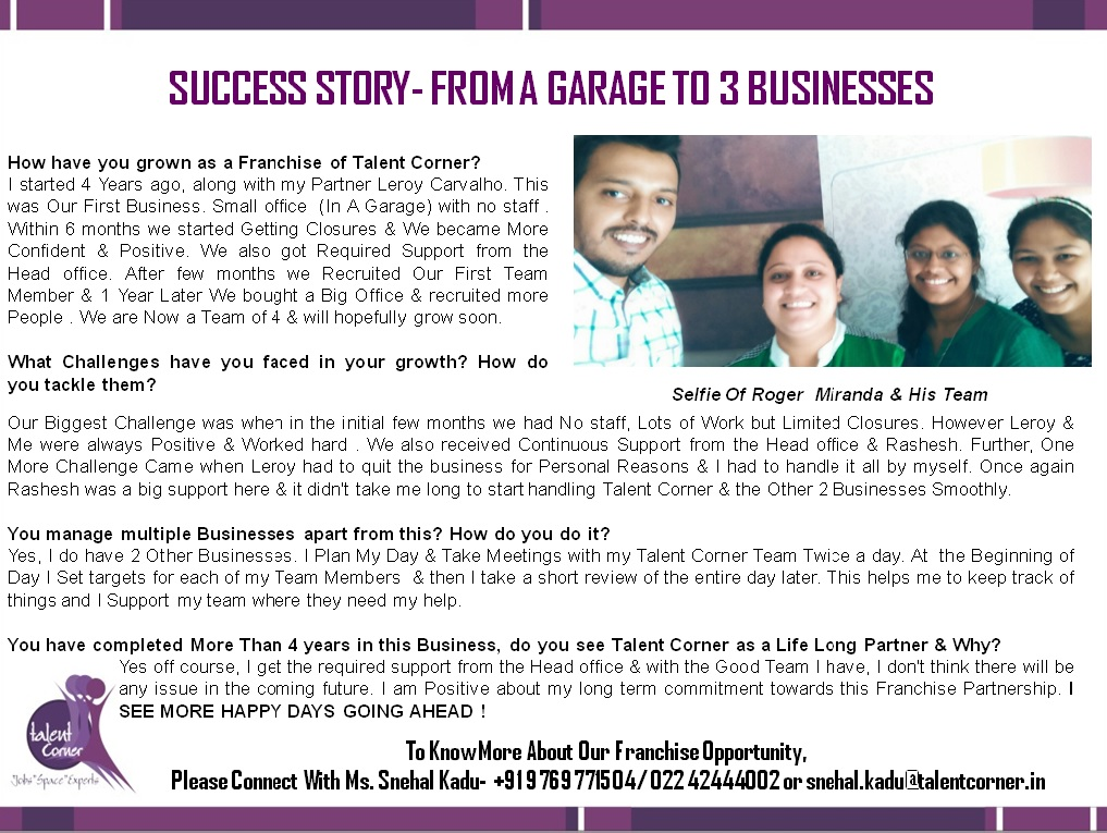 Success Story- Roger Miranda
